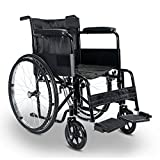 Superworth Folding Self Propel Wheelchair Lightweight Comfortable Portable Propelled Transit Travel Puncture Proof Wheels 100kg Capacity