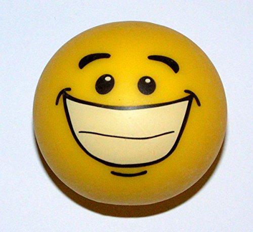 1 x Trendy Smiley Gummi stretch Stress Ball - Antistressball Stressballs Knautschball ca. 6 cm spielen+sammeln Mitbringsel 5348