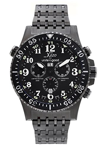 Xezo for Unite4:good Air Commando, orologio cronografo subacqueo di lusso