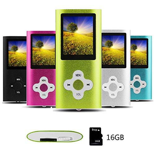 Btopllc MP3 Player, 16G Portable...