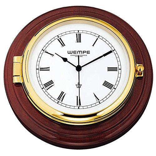 Wempe Chronometerwerke Skipper Schiffsuhr Mahagoni CW400001