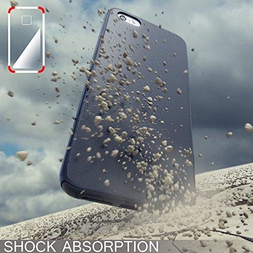 Apple iPhone SE 5 5S Coque Protection de NICA, Housse Silicone Portable Mince Souple, TPU Tele-phone Case Cover Premium Incassable Ultra-Fine Resistante Gel Slim Bumper Etui - Mat Noir Mat Noir