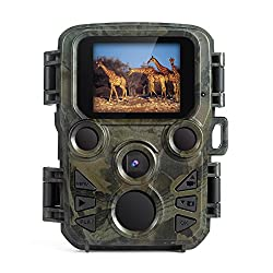 FLAGPOWER Wildlife Camera, Mini Trail Wildlife Camera Infrared Night Vision,Game & Hunting Camera 12MP 1080P, 2.0 inch LCD Screen,IP66 Waterproof Trail Camera Free 32GB Memory Card