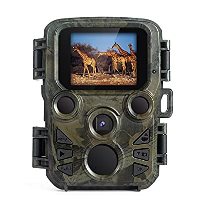 FLAGPOWER Wildlife Camera, Mini Trail Wildlife Camera Infrared Night Vision,Game & Hunting Camera 12MP 1080P, 2.0 inch LCD Screen,IP66 Waterproof Trail Camera Free 32GB SD Card