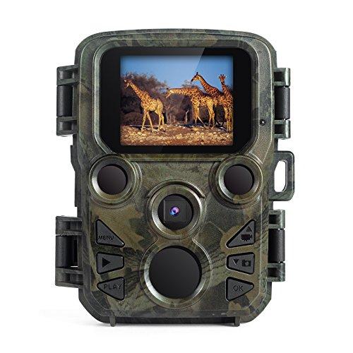 FLAGPOWER Wildlife camera, mini telecamera con visione notturna a infrarossi, Trail Game & caccia fotocamera con 12MP 1080p, schermo LCD 5,1cm IP56impermeabile Trail camera.