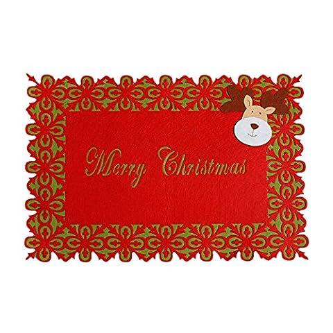 Hot/yanhoo Weihnachten Santa Tisch Matte Besteck Halter Dinner Party Decor