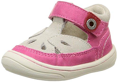 Kickers Zela, Chaussures Bébé marche bébé fille, Rose (Fuchsia/Beige), 21 EU
