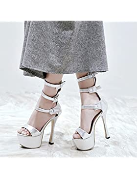 WYWQ Scarpe da festa impermeabile da parte della piattaforma della piattaforma Stiletto Scarpe a pompa degli alti...