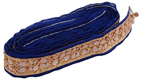 MR Fashion Zari Blue Lace for dress/sarees/blouses,suits,caps/bags/decorations/ borders, crafts, any many more. Pack of 9 meters  available at amazon for Rs.99