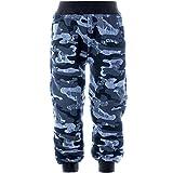 BEZLIT Kinder Sporthose Camouflage Freizeit Trainings Stoff Hose 21641 Blau Größe 128