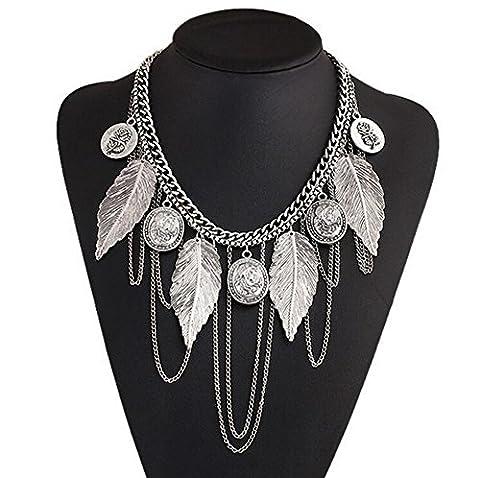 Femmes Accessoires Bijoux - Hosaire Collier Pendentif Rétro Exquis Elégant Pendentif