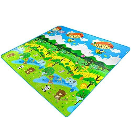 HBF Kinderspielteppich Spielmatte Spielteppich Schaumstoffmatte Baby Kleinkind Crawl Mat Spielmatte Babyschleichenmatte Picknick-Decke 200 * 180 cm (4)