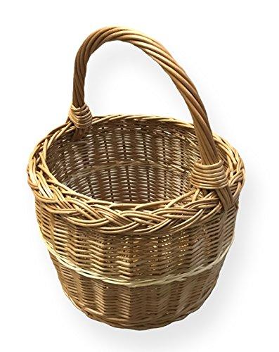 Einkaufskorb rund, braun, Ø 29cm x H 22cm
