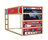 Feuerwehrbett Möbelfolie selbstklebend / Aufkleber - IM209 - passend für das Kinderzimmer Hochbett KURA von IKEA