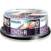 Philips DVD-R Rohlinge (4.7 GB Data/120 Minuten Video, 16x High Speed Aufnahme, 25er Spindel)
