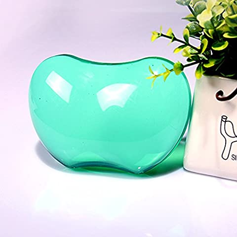 5-LLL-Grande cristallo trasparente in silicone del mouse pad da polso di affaticamento freddo mani nel suo braccialetto di cuscino di mano , transparent green