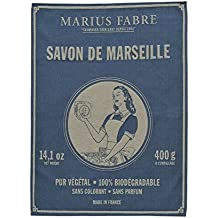 Marius Fabre Torchon en Coton Tissé Bleu Nature