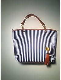 Gleader Bolso Bolsa de Hombro Asa Larga Cadena Color Azul para Mujer Moda