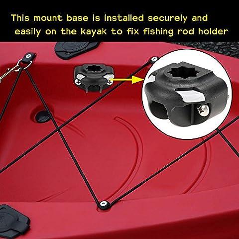 boldion (TM) barca kayak una base Mount Base Nylon Supporto Canna Da Pesca Tackle Kit accessori