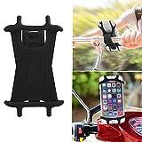 Hmjunboys Support Téléphone Vélo Support Vélo du Guidon Etanche Silicone Universel Réglable Portable avec Sangle Anti-Vibrations pour iPhone X/8/7 Plus/6S Samsung Smartphone 4.5' - 6.5' et GPS (Noir)