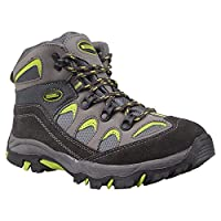 Mountain Warehouse Oscar Kids Walking Boots - Suede Childrens Running Shoes, Sturdy Grip, Padded Ankles Footwear, Strong Outsole, Soft - for Travelling, Hiking, Camping