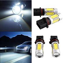 Sedeta 2Pcs P13W OCULTADO blanco de alta potencia brillante COB LED DRL de conducción diurna de conducción de luz de niebla de coche de la lámpara de coches