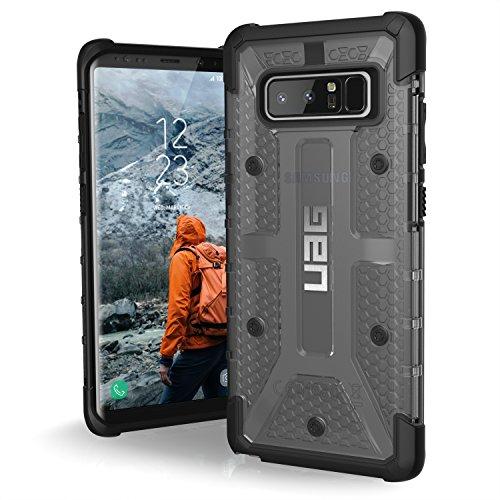 Urban Armor Gear Plasma Schutzhülle nach US-Militärstandard für Samsung Galaxy Note 8 - transparent (dunkel) [Verstärkte Ecken | Sturzfest | Antistatisch | Vergrößerte Tasten] - NOTE8-L-AS (Samsung Note4 Galaxy Us Cellular)