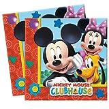 Procos Mickey Maus Wunderhaus 20 Servietten Kindergeburtstag