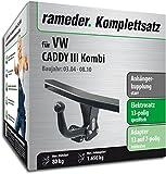 RAMEDER Komplettsatz, Anhängerkupplung starr + 13pol Elektrik für VW CADDY III Kombi (112995-05084-2)