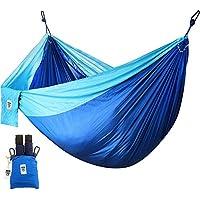 Utopia Home Hamaca de Nylon - Resistencia de 200KG - Mejor para Senderismo, Viajes, Playa, Patio, jardín, Camping, Deporte al Aire Libre - Azul
