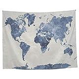 iBaste Moda Tapices Colgante de Mapa del Mundo Tapiz de Pared Alfombra para el Dormitorio Decoración para el Hogar 150 * 130cm / 200 * 150cm