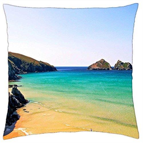 Holywell Bay Beach e Oceano Cornovaglia Inghilterra-Throw Pillow Cover Case (45,7x 45,7cm)
