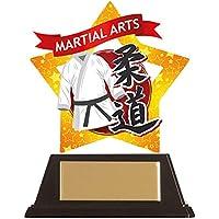 Emblems-Gifts - Placa acrílica de yudo (Personalizable, 100 mm), diseño de Estrellas Marciales