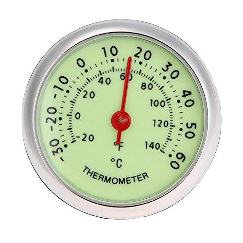 Universal-fluoreszierendes Mini-Rundes Auto Auto Analog Thermometer ℃ / ℉ Temperaturmesser Bottom-lcd-bildschirm-anzeige