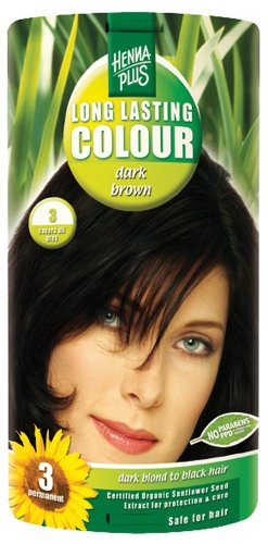 Hennaplus 49150 Long Lasting Colour 3 Dark Brown