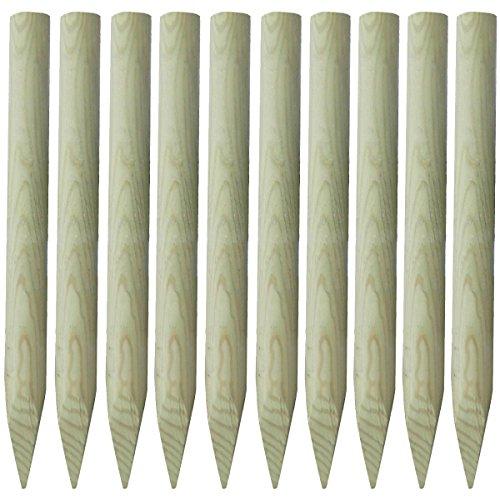vidaxl-lot-de-10-piquets-cloture-en-bois-100-cm