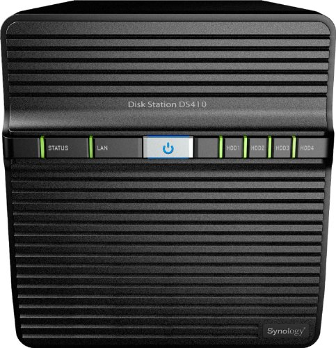Synology DS410 NAS-System (1,06Ghz CPU, 512MB RAM, 4 HDD, SATA)
