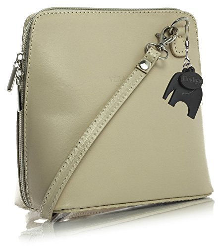 Big Handbag Shop, Borsa a tracolla donna One Beige (Light Beige)