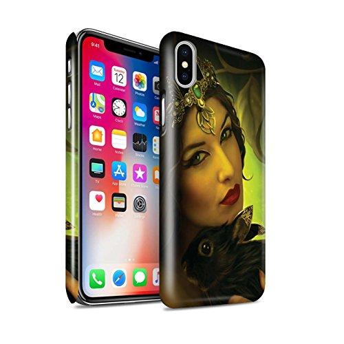 Officiel Elena Dudina Coque / Clipser Brillant Etui pour Apple iPhone X/10 / Jacinthe Design / Les Animaux Collection Couple Forêt/Lapin