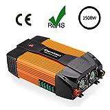 Excelvan Wechselrichter 1500W Auto Power Inverter 12V DC auf 230V AC mit Dual AC Outlet Dual USB Hafen für Laptops Tablet Smartphone und andere elektronische Geräte