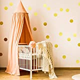 Wall Decal Dots (200 Decals) Posh Dots Easy Peel and Stick - Removable Metallic Vinyl Polka Dot Decor, Round Circle Wall Decal Stickers for Festive Baby Nursery Room