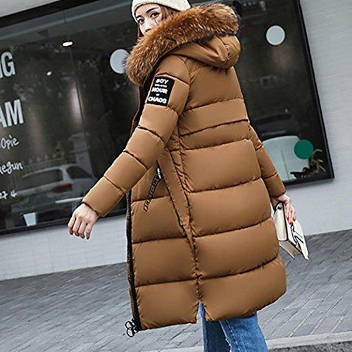 Momola Femmes plein Casual épais hiver Slim bas Lammy veste manteau pardessus Café