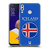 Head Case Designs Isländische Fahne Fahnen Flicken Soft Gel Hülle für ASUS Zenfone 5z ZS620KL/5 ZE620KL