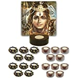 TYYC Home Decorative Candle Holders Diwali Gift Items Lord Shiva Tea Light Holder- Set Of 21