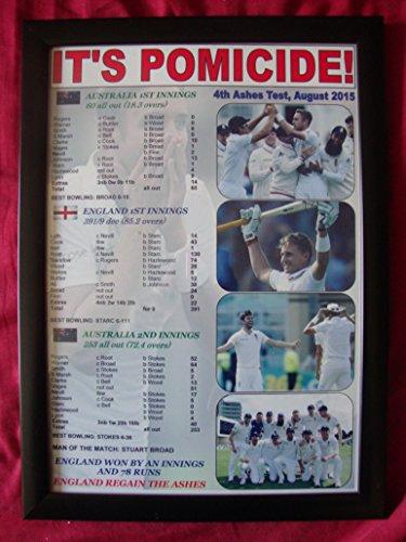 England 4. Asche Test Win 2015–England Win der Asche–Kunstdruck, gerahmt