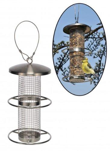 Vogelhaus Futtersäule Futterstation aus rostfreiem Edelstahl