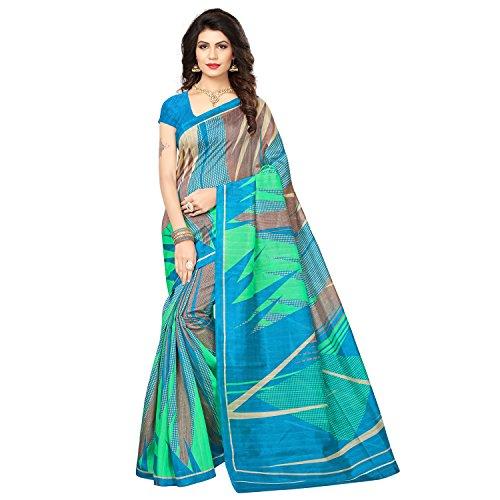 SAREE MALL Womens art silk Saree with blouse (sarees offer below 500 rs_SRJ029)
