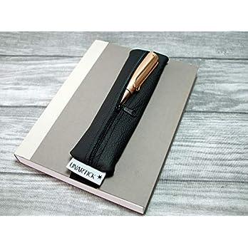 Stiftemäppchen für Bullet Journal, echtes Leder, Stiftehalter Notizbuch, Federtasche, Etui