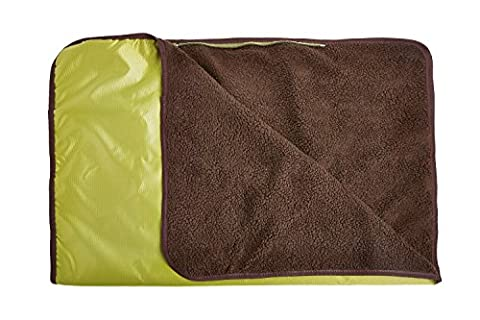 Allisandro Multi Usage Portable Outdoor Waterproof Blanket Picnic Camping Blanket Beach Mat for Dogs and Cat With Storage Bag GREEN