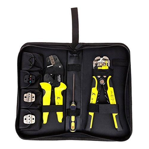 Outil de sertissage à cliquet JX-D4301 Pince à dénuder les pinces (Couleur: jaune)